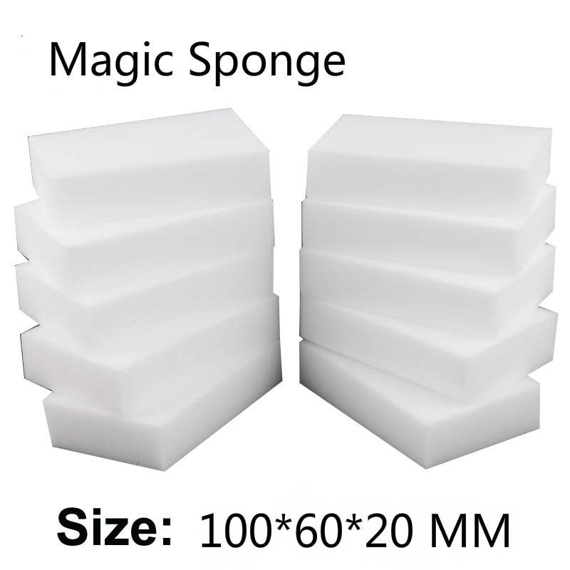100/40/20 / 10pcs मैजिक स्पंज इरेज़र रसोई कार्यालय बाथरूम स्वच्छ गौण / डिश सफाई उपकरण Melamine स्पंज नैनो 100 * 60 * 20 मिमी