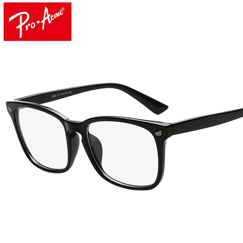 Pro Acme Praça Hot Moda Vidros Ópticos Quadro Mulheres Vidros Transparentes  Óculos de Armação de óculos Homens Óculos Óculos CC0702 82451ab6ac