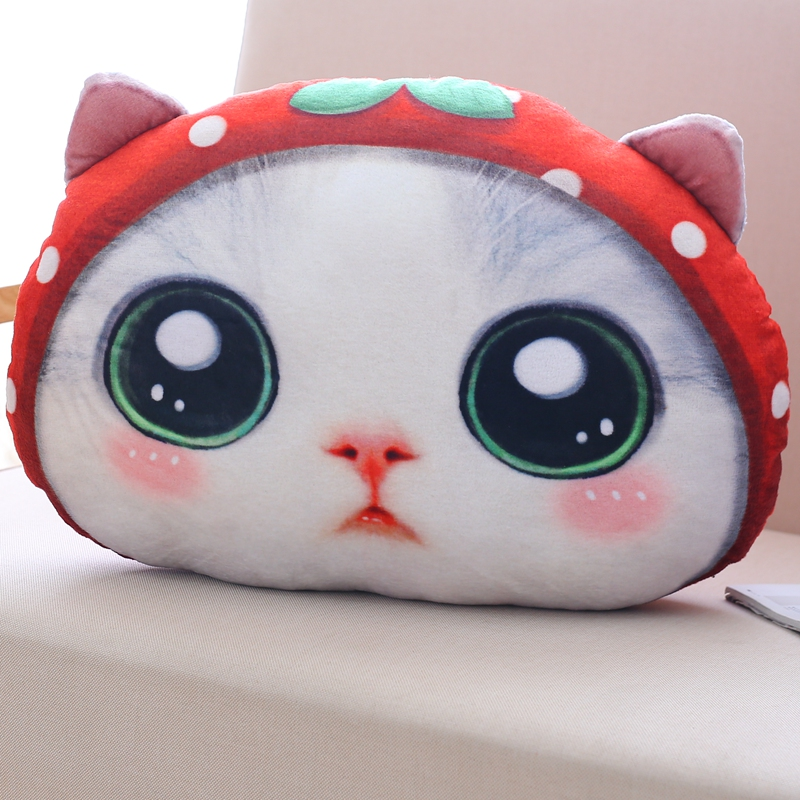 40*30cm Kawaii Staffed Cat Plush Pillows Cute Soft Animal Cat Toys Dolls Sofa Cushion Cartoon Home Decoration Birthday Gift