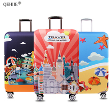Wellknown Brand Luggage Cover High Elastic Thickening Trolley Case Cover Suitcase Dust Cover Fashion Travel Accessories 2018 Hot все цены