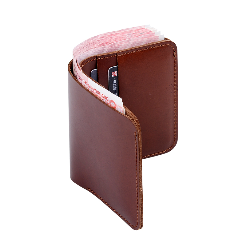 ФОТО Handmade  Leather Wallets Retro Style Men Women Purse Card Holder Mens Wallet Crazy Sale portefeuille homme