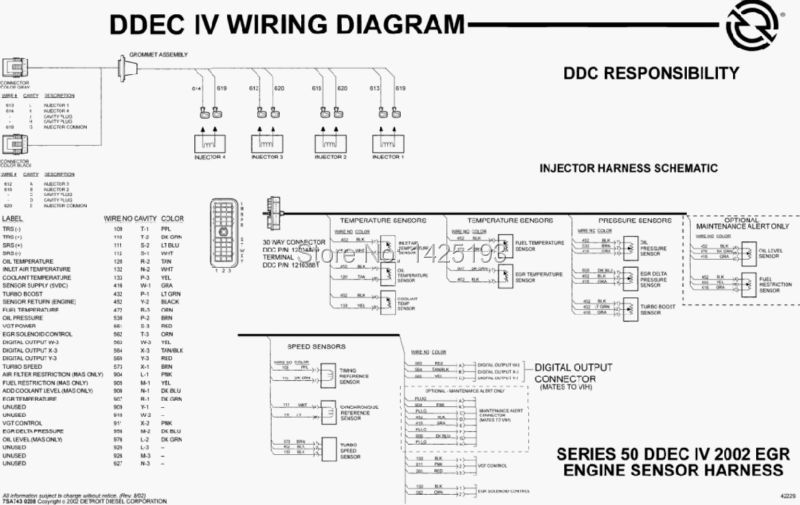 Ddec 4 Wiring Diagram Ddec Iv Schematic • Googlea4.com Ddec Ecm Wiring Schematic on