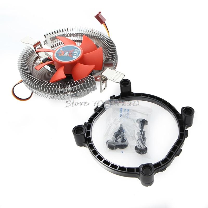 2200rpm CPU Silent Fan Cooler Cooling Heatsink For Intel LGA775/1155 AM2/3 Drop Shipping high quality pc cpu cooler cooling fan heatsink for intel lga775 1155 amd am2 am3 754 wholesale price