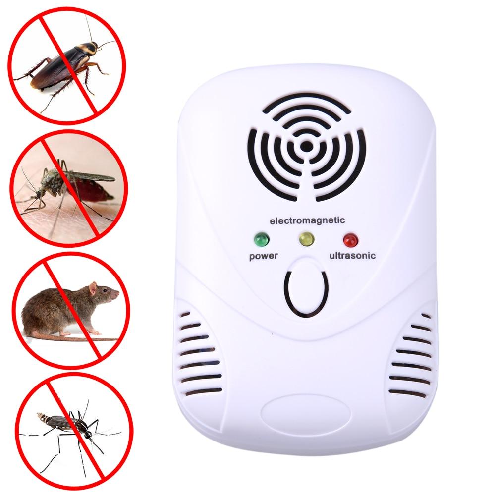 110-250 V/6 W Ultrasonico Elettronico Del Mouse Killer Trappola Del Mouse Scarafaggio Mosquito Repeller Insetti Ratti repellente Ragni di Controllo Spina di US/EU