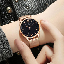 New Women Dress Watch Luxury Brand Ladies Quartz Watches Stainless Steel Mesh Band Casual FANTATIC STYLE Wristwatch reloj mujer