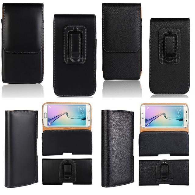 Holster Case For Samsung Galaxy S7 S6 Edge S5 S4 S3 S2 Waist Bag Belt Clip Leather Pouch For Asus Zenfone 2 Laser LeEco Coque