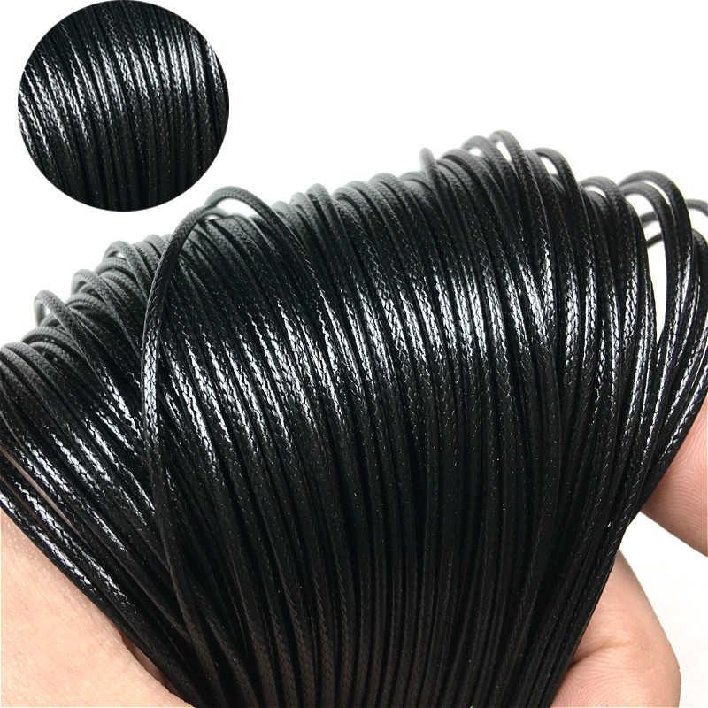 20 ชิ้น lot 1.5 มิลลิเมตรถักเชือกหนังเทียมสีดำสายไฟกุ้งก้ามกราม Clasp DIY ผลการค้นหาเครื่องประดับ