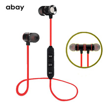 Bluetooth wireless sport Hifi super Bass Earphone with Mic Magnetic bluetooth headphones Headset Stereo Earbuds for mobile phone new design earphone bluetooth headset deep bass wireless earbuds magnetic switch with mic for doogee x5 max pro