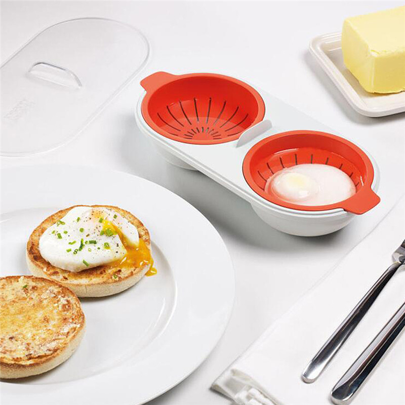 1PC Microwave Oven Egg Poacher Eggs Bowl Food Grade PP Material Egg Tools Kitchen Accessories Cooking