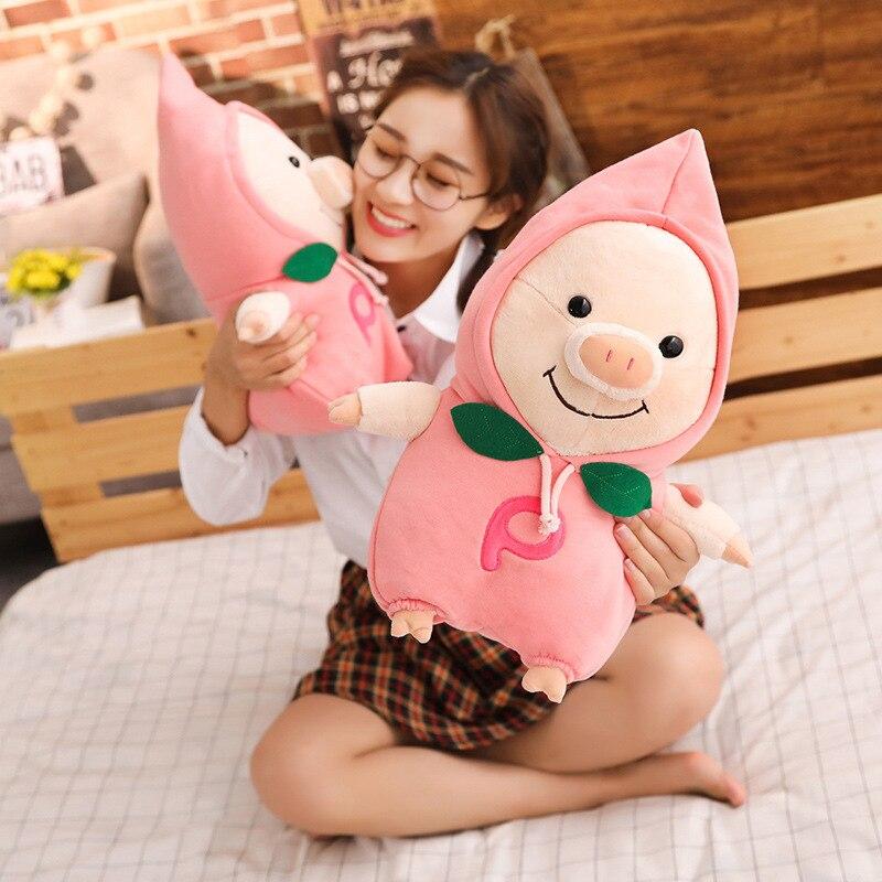 Dolls & Stuffed Toys Stuffed & Plush Animals 1pc 28/40/50cm Toys Cartoon Fart Peach Pig Plush Toys Fat Pig Pillow Soft Cushion Pig Hand Warm Doll Birthday Gift Kid Baby Skillful Manufacture