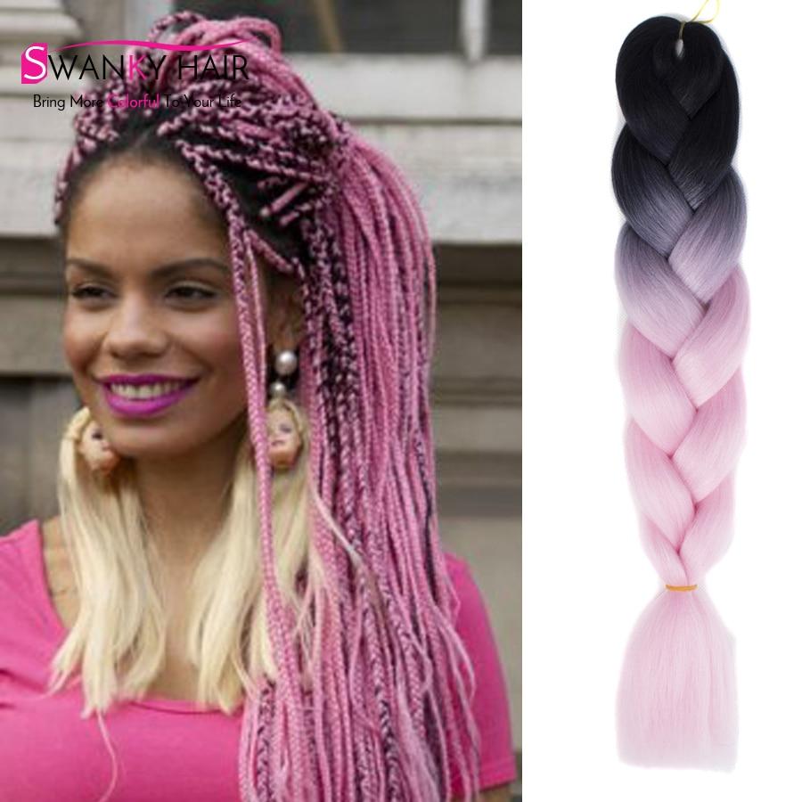 Ombre Kanekalon Jumbo Braiding Hair 12 Colors African American