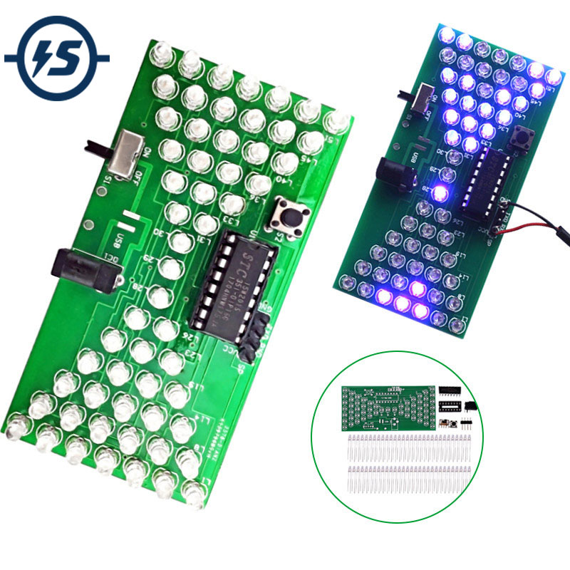 5V Electronic Hourglass DIY Kit Funny Electric Production Kits Precise With LED Lamps Double Layer PCB Board DIY Electronic
