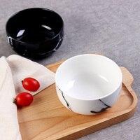 1pc Modern Marbled Ceramic Bowls Minimalist Porcelain Bowls Salad Yogurt Rice Bowl Kitchen Dinnerware Noodle Soup