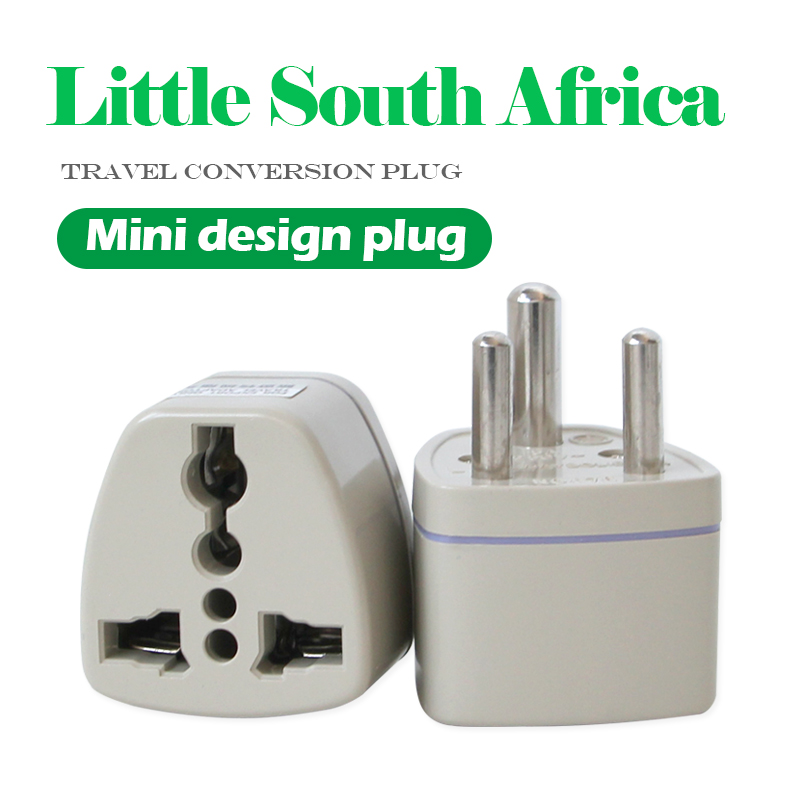 250V/5A 1PC Universal <font><b>UK</b></font>/US/EU/AU to Small South African <font><b>3pin</b></font> Travel <font><b>Plug</b></font> India South Africa Converter Adapter <font><b>plug</b></font> Adaptor image