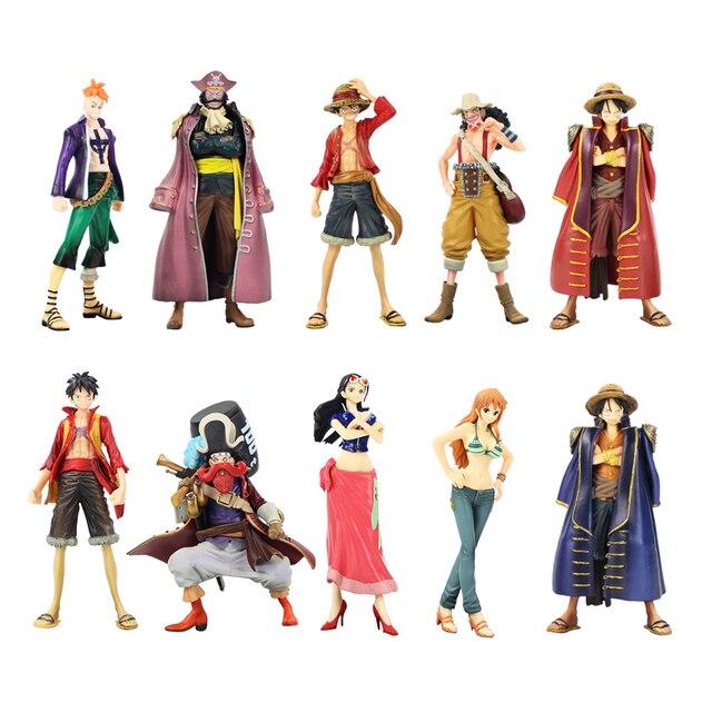 2pcs lot One Piece The Grandline Men Lady Luffy Usopp Roger Marco Nico  Robin Nami 60079d20765e