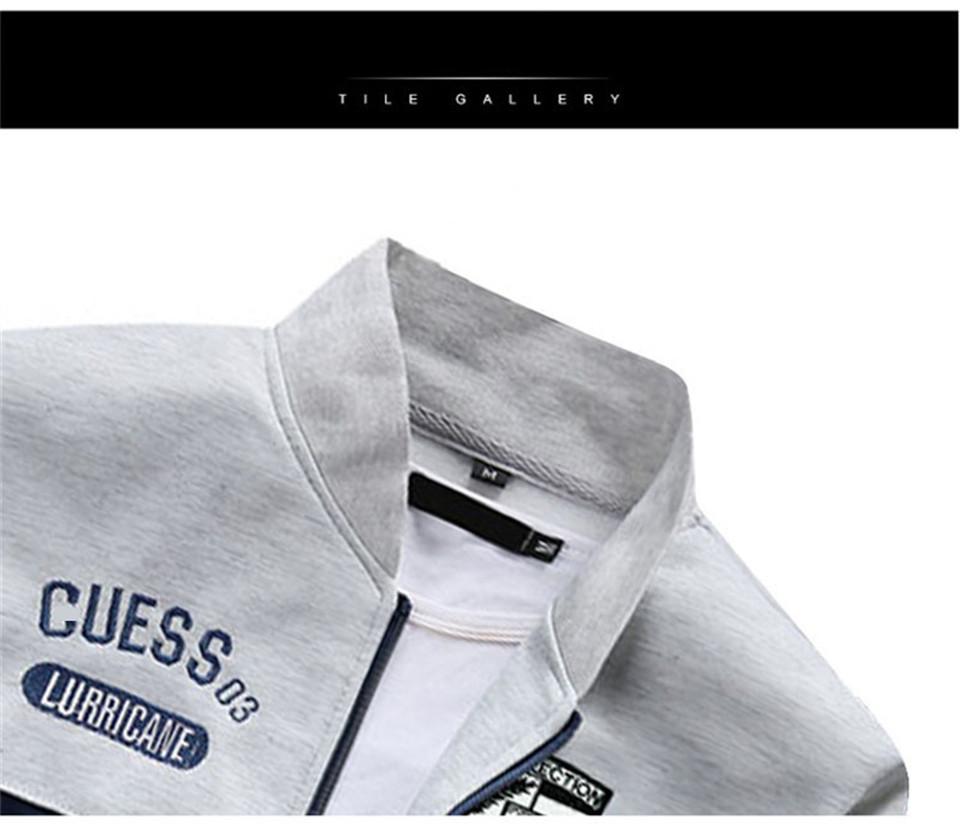 Riinr Brand New Men Sets Fashion Autumn Spring Sporting Suit Sweatshirt +Sweatpants Mens Clothing 2 Pieces Sets Slim Tracksuit 10