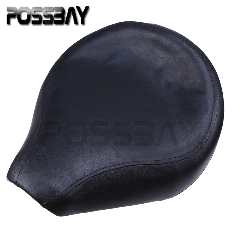 все цены на Black PU Leather Motorcycle Seat Front Cafe Racer Seat Cover Saddle For Yamaha Vstar 400/650 1996-2012 Motocross Bobber Seats