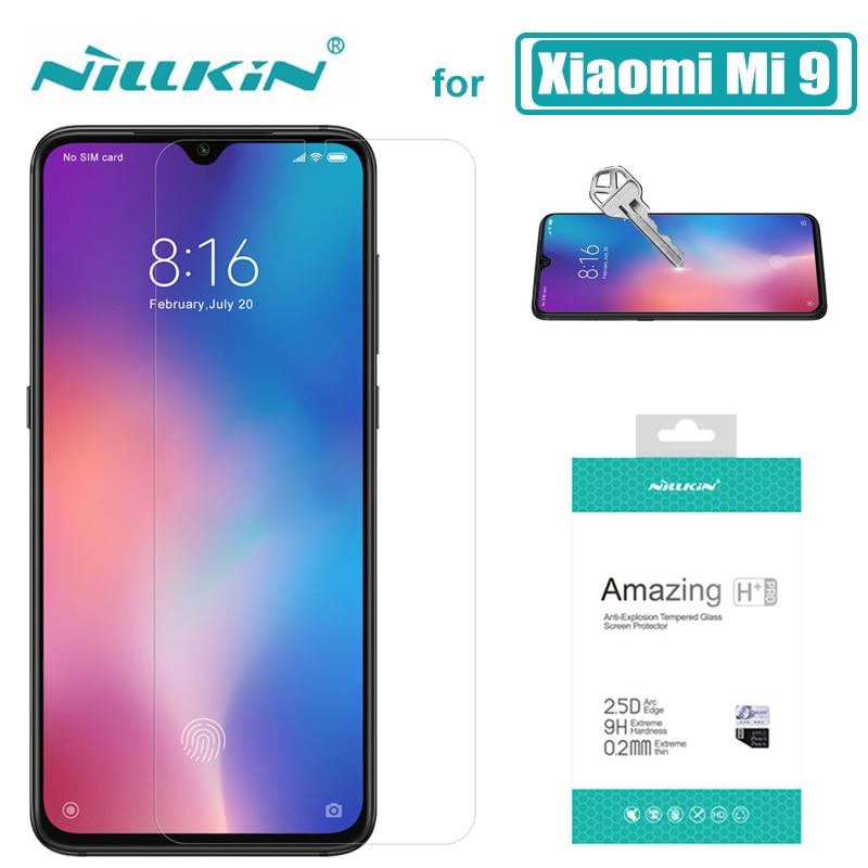 pro Xiaomi Mi 9 Lite Mi9T Mi9 Glass Glass Nillkin 9H HD Screen Screen Chránič Xiaomi Mi 9T 9 8 SE 6 Redmi K30 5G K20 Pro