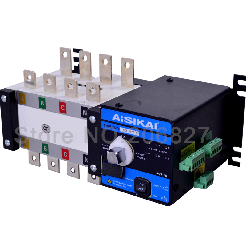 125A Three phase 4P genset automatic transfer switch (ATS  125A) 80a three phase genset ats automatic transfer switch 4p ats 80a