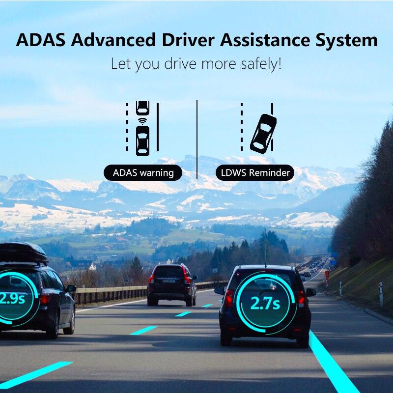 Jansite 10 4G wifi Автомобильный видеорегистратор сенсорный экран двойной объектив Универсальный Android gps навигация зеркало заднего вида Автомобильные камеры ADAS Bluetooth - 3