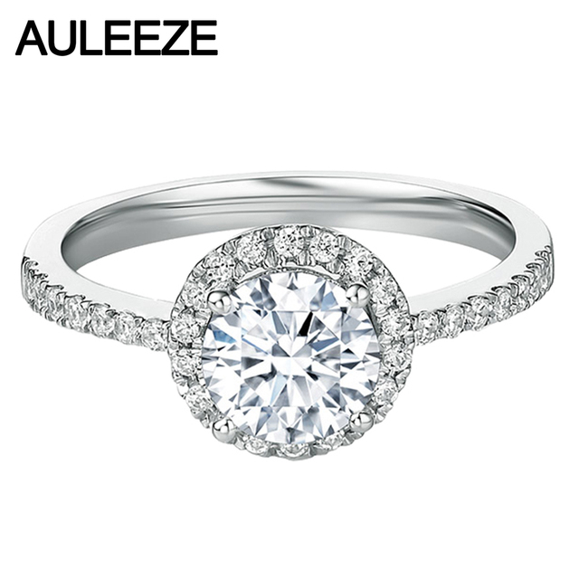Halo 0 3ct Moissanite Engagement Ring 925 Sterling Silver Jewelry Lab Grown Diamond Wedding Rings For