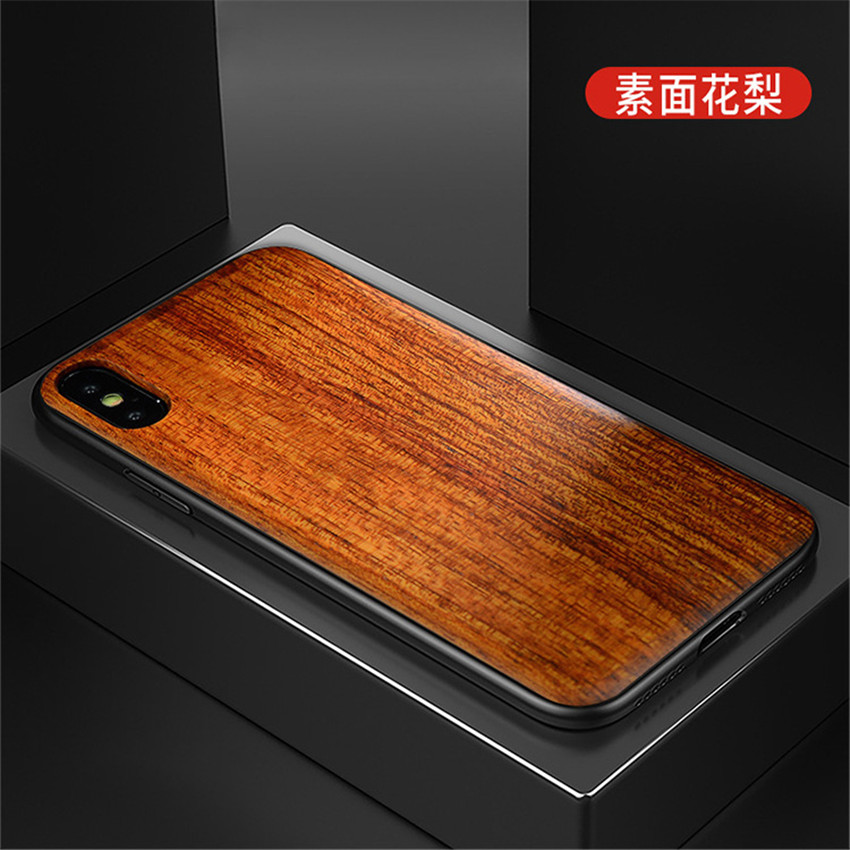 2018 New For iPhone XS Max Case Slim Wood Back Cover TPU Bumper Case For iPhone X iPhone XS Phone Cases (15)