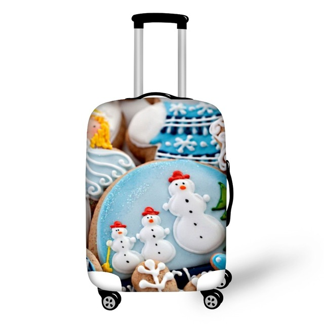 FORUDESIGNS Travel Luggage Protective Dust Covers,Elastic Suitcase Covers Apply to 18-28 Inch Cases Luggage Christmas Present