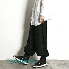 Новинка wo мужская одежда Bigbang стилист волос Мода Урожай Широкие штаны Самурайские военные штаны певица костюмы 27-44