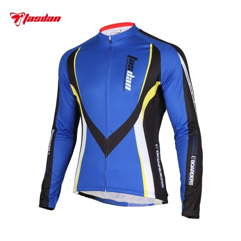 Tasdan Mens Cycling Wear Clothes Jersey Biking Clothing UV Protect Long Sleeve
