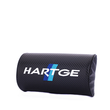 Embroidery for HARTGE emblem Car carbon fiber style headrest soft Neck Pillow bmw e30 e46 e90 mini Land Rover accessories