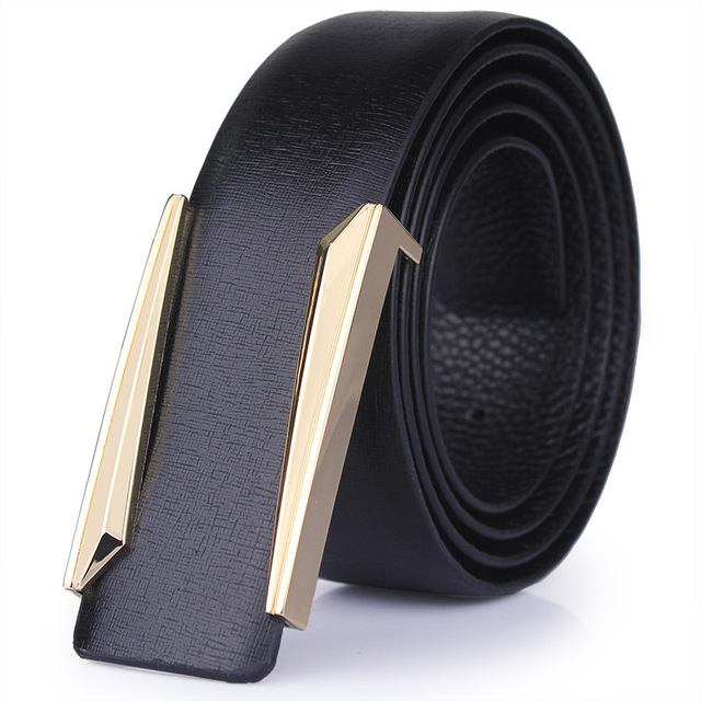 2017 new Designer solid brass buckle belt for men belts luxury top quality full grain 100% genuine leather fashion casual hot