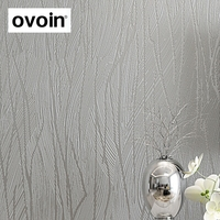 Designer Non Woven Solid Color Vertical Grey Stripe Wallpaper Simple Textured 3D Wall Paper For Living