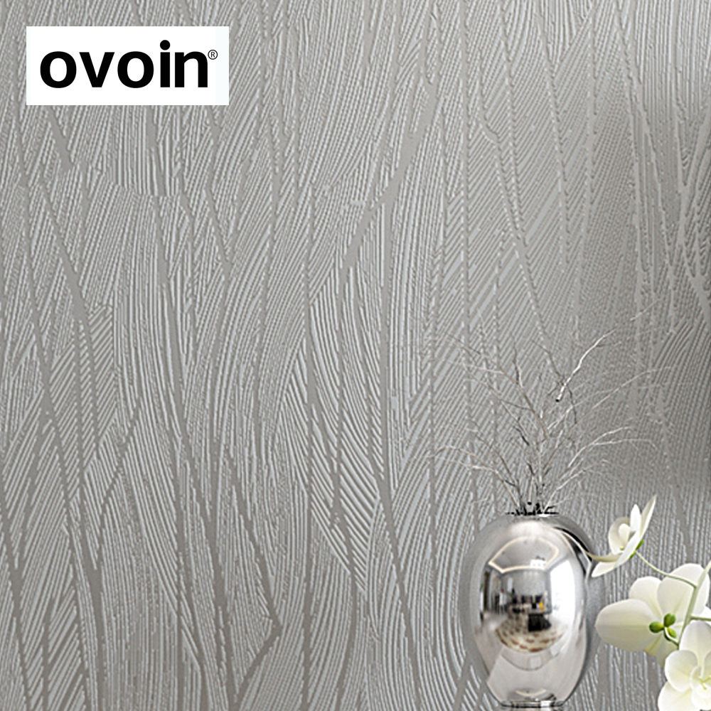 Online Shop Solid Color Modern Silver Grey Gray Striped Textured Wallpaper Bedroom Wall Covering Plain Paper Roll