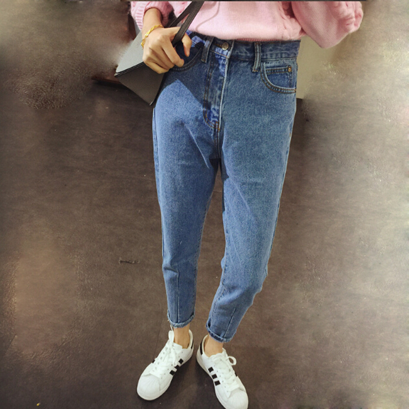 New Fashion Vintage Women High Waist   Jeans   Ladies Slim Pencil Pants Casual Loose Fit Denim Trousers Girfriend   Jeans