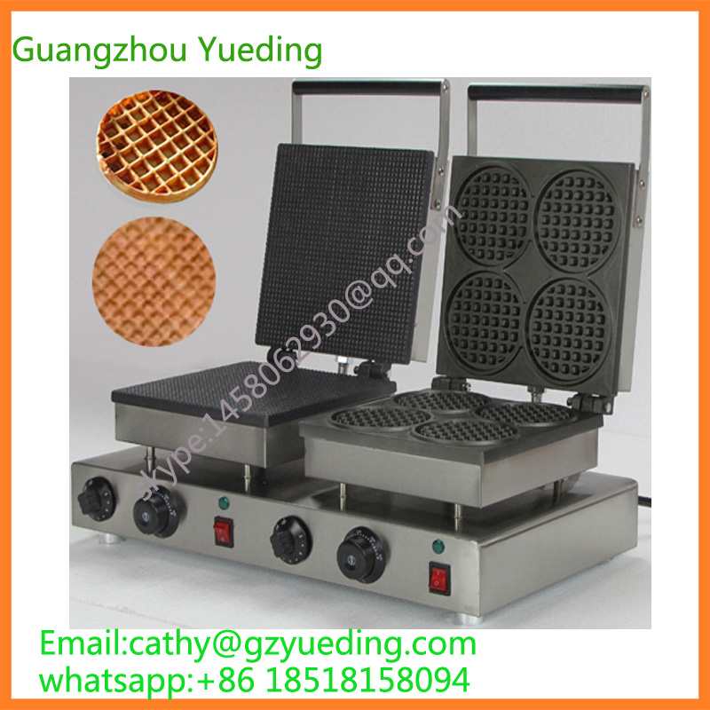 hot selling factory price electric waffle maker price, round waffle maker, waffle maker machine directly factory price commercial electric double head egg waffle maker for round waffle and rectangle waffle