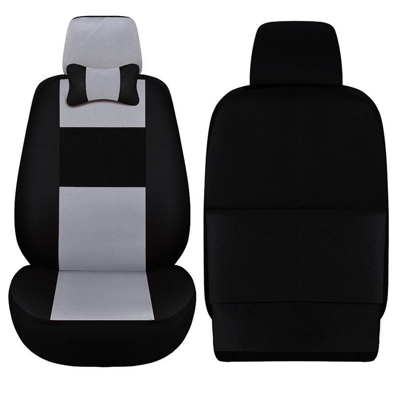 Car ynooh 2pcs car seat cover for mitsubishi outlander xl pajero 2 4 lancer 9 10 asx sport colt carisma cover for vehicle seat