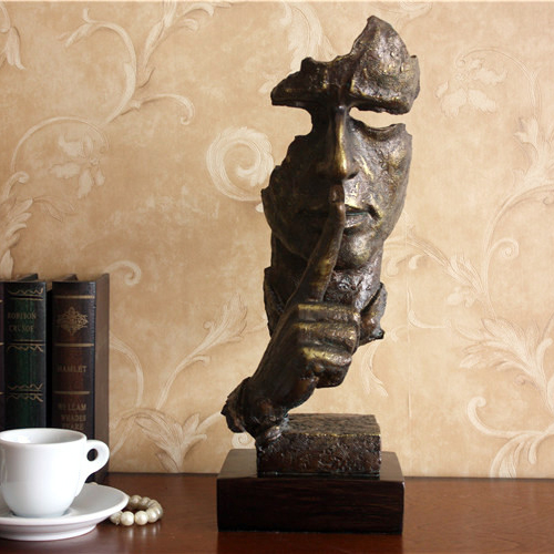 imitation bronze portrait sculpture decoration study Abstract silence furnishings jewelry office Home Furnishing gift