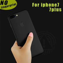For iphone 7 7 plus case hard PP material Phone Back Cover translucent and black Shell