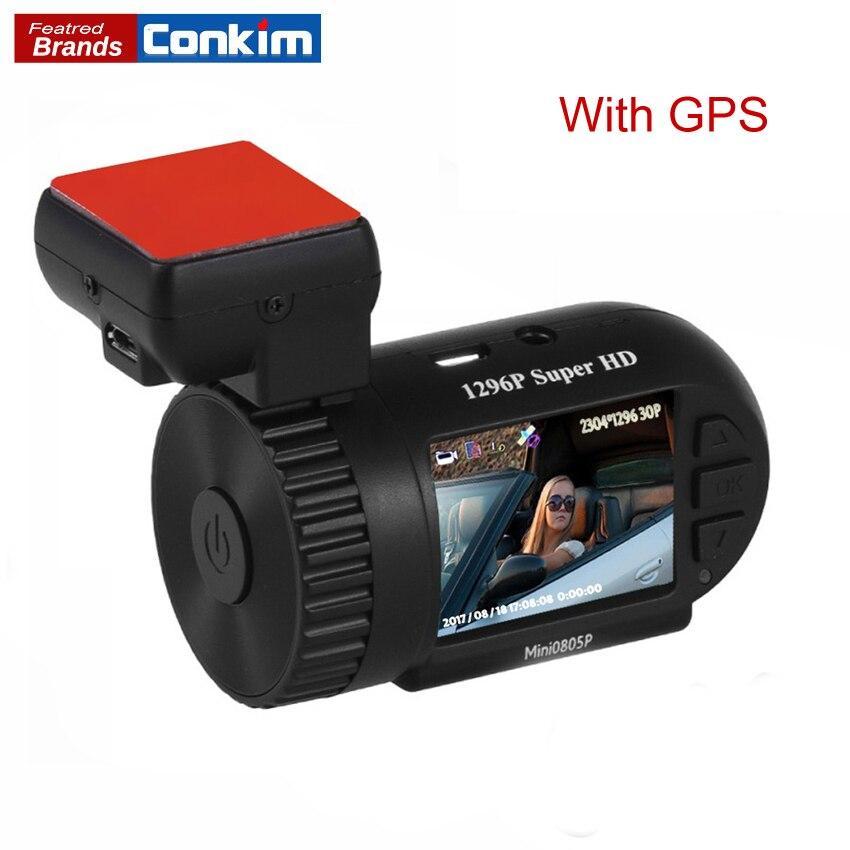 Conkim Dash Cam Mini 0805 p Voiture Dvr Auto Enregistreur 1296 p Voiture Caméra Full HD Pro Condensateur Caché Dashcam GPS HD DVR Caméra