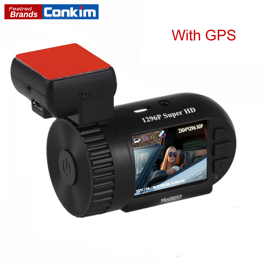 Conkim Dash Cam мини 0805 P автомобильный DVRs Авто рекордер 1296 P Автомобильная камера Full HD Pro конденсатор Скрытая Dashcam GPS видеорегистратор высокого разр...