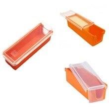 Утилита кухонные инструменты 14x5x4 масло Хранитель и слайсер резак контейнер для хранения Торты Печенье посуда масло блюдо посудомоечная машина