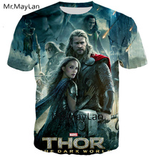 Cool Movie Thor 3D Digital Printed T-shirt Men/women Punk Crewneck T shirt 2019 Summer Boy Hipster Tshirt Tops Clothes Oversized