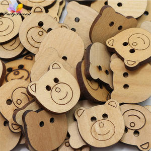 66d7861d5a9 partyfareast 50Pcs Wooden Buttons for Decoration Sewing