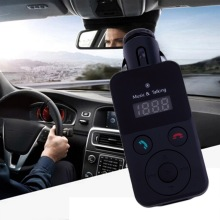 Nuevo lcd kit de coche bluetooth mp3 transmisor fm sd usb cargador manos libres para iphone