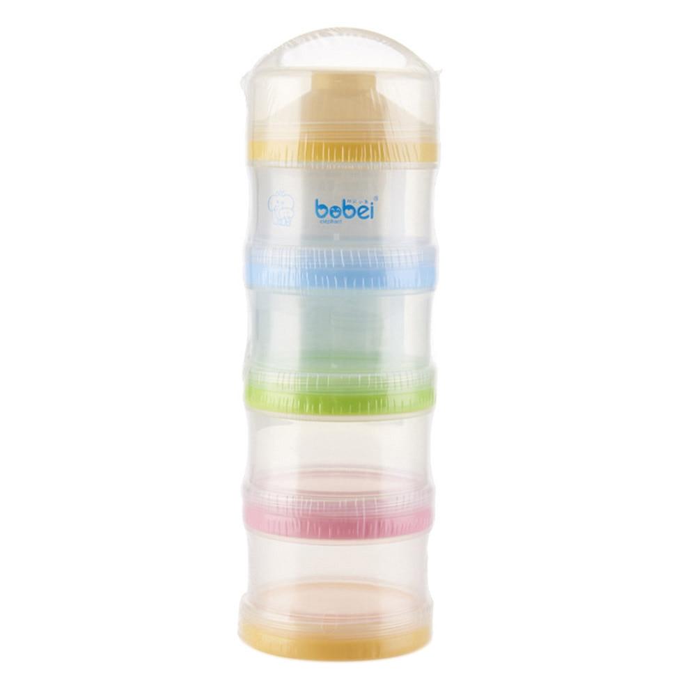 Portable 4 Layers Infant Milk Powder Container Newborn Baby Feeding Food Bottle Snacks Candy Storage Box M09