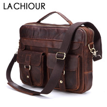 Lachiour Genuine Leather Men Handbags Crossbody Bags Casual Totes Leather Messenger Laptop Bag Shoulder Bags Male Briefcases цена в Москве и Питере
