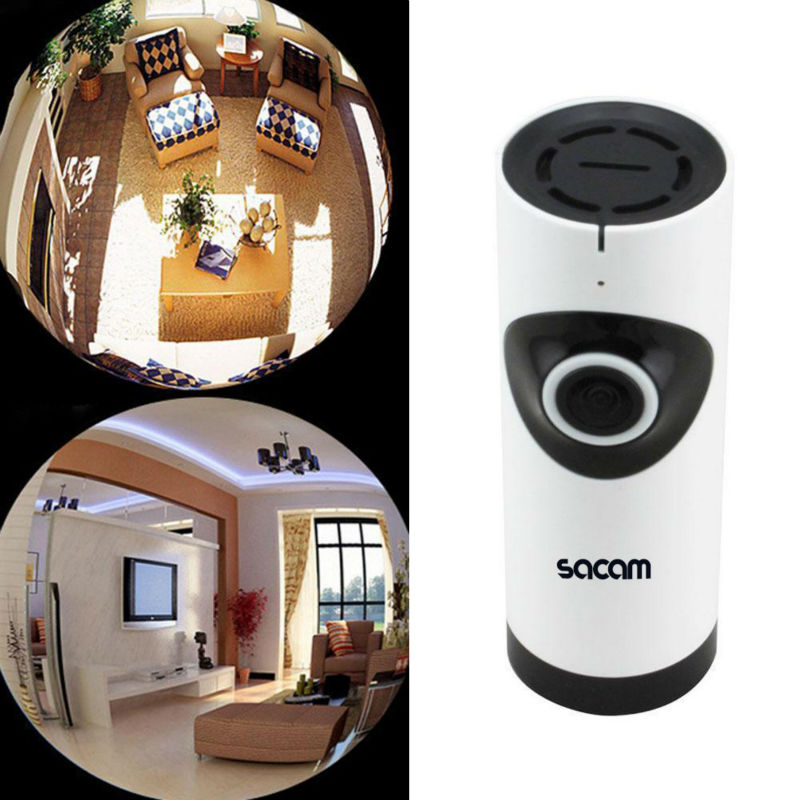 SACAM Wireless Security Camera Baby Monitor IP 360 Wide Angle Fisheye Panoramic Video Surveillance Night Vision CCTV HDIPC360 APSACAM Wireless Security Camera Baby Monitor IP 360 Wide Angle Fisheye Panoramic Video Surveillance Night Vision CCTV HDIPC360 AP