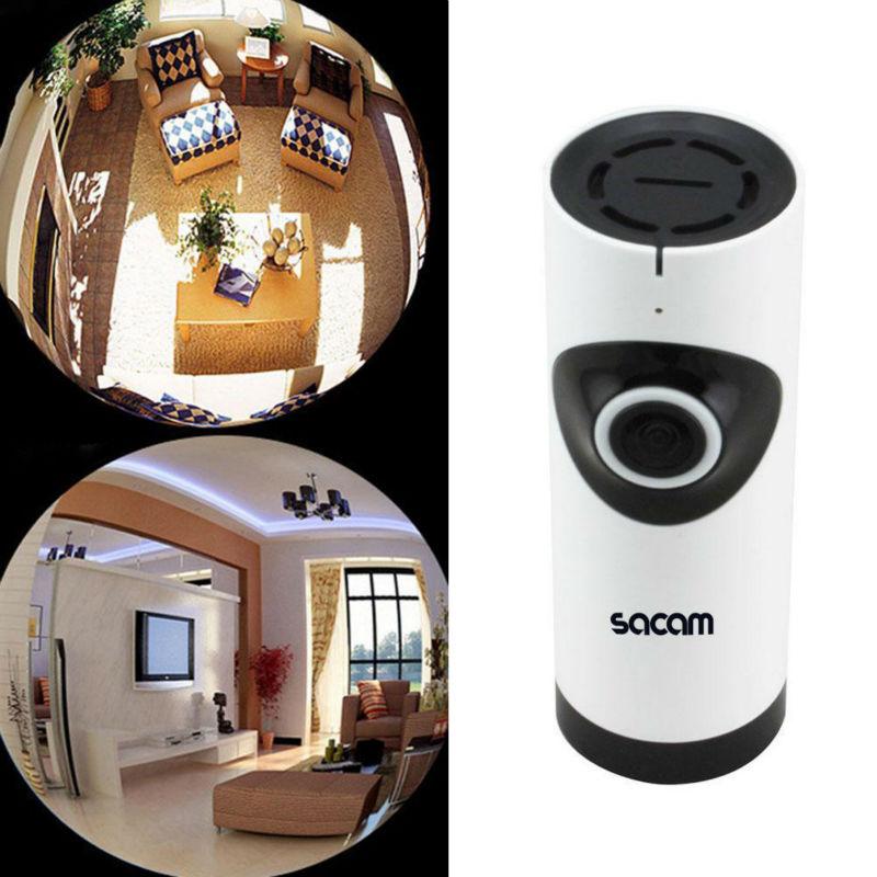SACAM bezprzewodowa kamera do monitoringu niania elektroniczna baby monitor IP 360 szeroki kąt rybie oko panorama nadzoru wideo Night Vision CCTV HDIPC360 AP