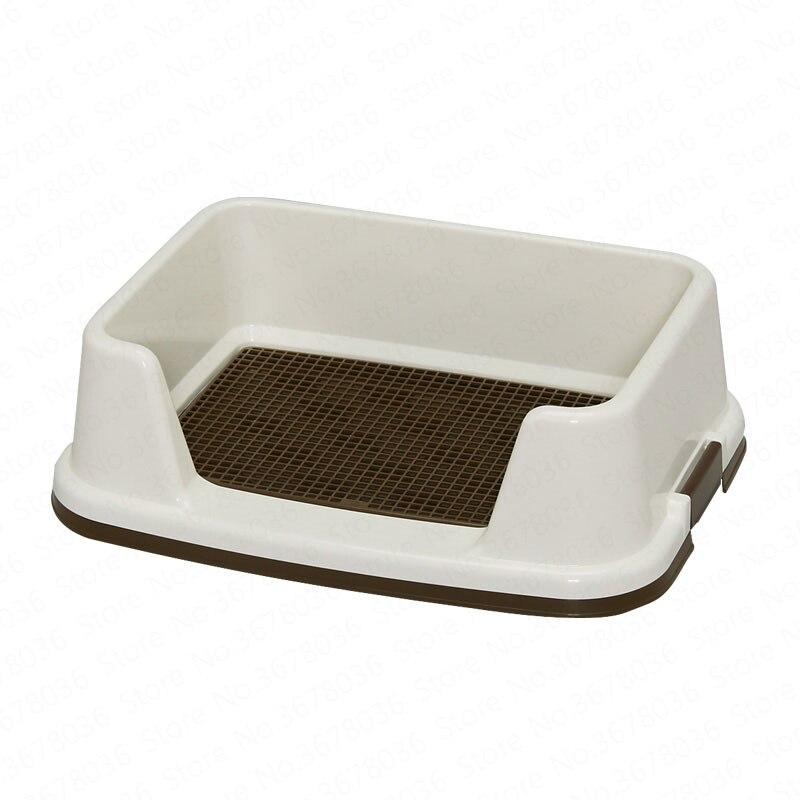 Chien toilette caca pot urinoir petit chien Teddy fournitures créatif ménage Semi-fermé bord arrondi conception Pet produits pour chien
