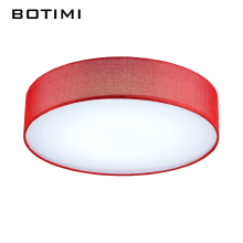 BOTIMI Janpaness Fabric Lampshade LED Ceiling Lamp Lamparas de techo Cloth Surface Mounted Home Lighting Fixture For Bedroom